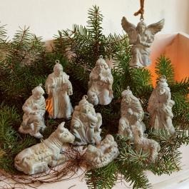Krippenfiguren 10er Set Holy Family