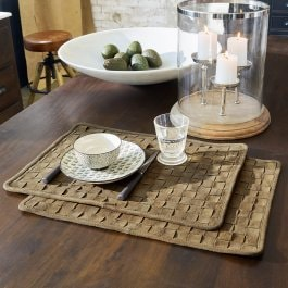 Platzset 2er Set Blackville braun