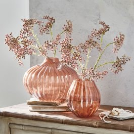 Vase 2er Set Morbinda orange