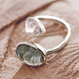Ring Meadow rosa/silber