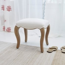 Hocker Paquet braun/creme