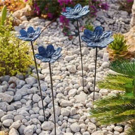 Gartenstab 2er Set Soucy antikblau